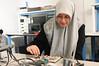 Salma Mahmoud in the Bioengineering lab. Photo by Evan Cantwell/Creative Services/George Mason University