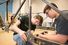 CEIE students build steel bridge