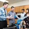 Department of Mechanical Engineering, Senior Capstone Design, Aeolus Portable Wind Turbine project.  Photo by:  Ron Aira/Creative Services/George Mason University