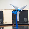 Department of Mechanical Engineering, Senior Capstone Design, Aeolus Portable Wind Turbine project.  Photo by:  Ron Aira/Creative Services/George Mason University