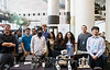 George Mason University shows off their robots during the Smithsonian Robotics Exhibition at the Smithsonian National Air and Space Museum on April 3, 2015. Photo by Craig Bisacre/Creative Services/George Mason University