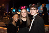 Wind Ensemble musicians Magdalene Mallory, Abby Losos and Austin Ferrell