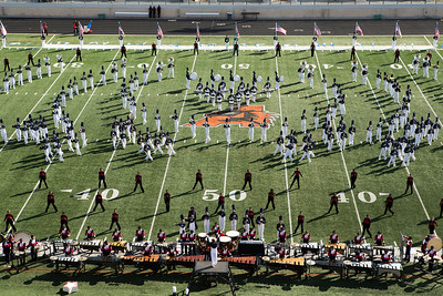 The  Duncanville High School Marching Band featured a patriotic theme.