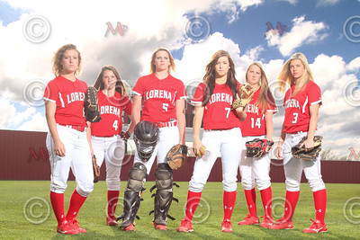 LHS Softball Team portraits 2014