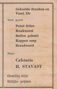 advertentie H. Stavast, 1954