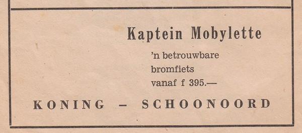 advertentie K. Koning, 1954