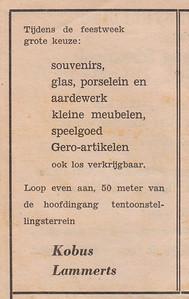 advertentie Kobus Lammerts, 1954