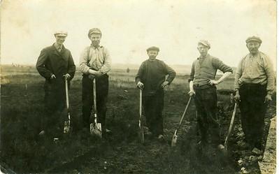 Groep landarbeiders