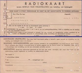 Radiokaart van Geert Bremer