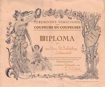 1921 Diploma Berend Schuiling