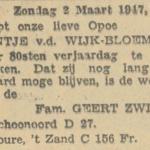 Jantje Bloeming, 2-3-1947, 80 jarig jubileum