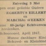 Egbertus Eillert Marchje Weeken, 1947