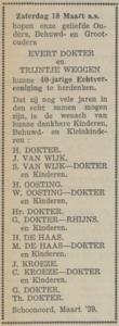 Dokter en Weggen, 18-3-1939, 40 jarig huwelijk