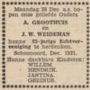 Groothuis en Weideman, 28-12-1931, 25 jarig huwelijk