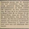 Anne de Groot, 6-3-1946, overlijdensadvertentie