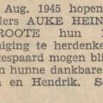 Heins en Groote, 3-8-1945, 12,5 jarig huwelijk