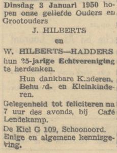 Hilberts en Hadders, 3-1-1950, 25 jarig huwelijk