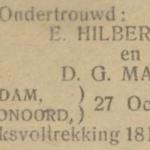 Hilberdink en Maris, 27-10-1922, ondertrouwd