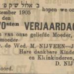 Mietje Joosten, 2-9-1905, 70 ste verjaardag