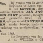Jagt en Hendriks, 5-10-1868, echtscheiding
