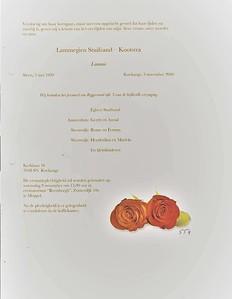 Rouwkaart  Lammegien Kootstra