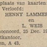 Lammerts en Weis, 25-12-1932, verloofd