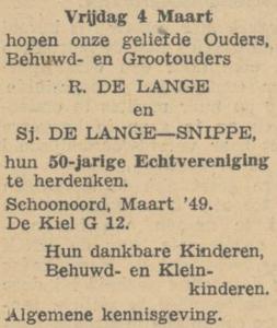 Lange en Snippe, 4-3-1949, 50 jarig huwelijk