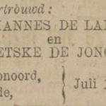 de Lange  en de Jonge , 7-1920, ondertrouwd
