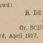 de Lange en Schuurman, 4-1917, ondertrouwd