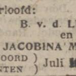 van der Leest en Mulder, 7-1918, verloofd