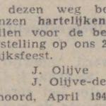 Olijve en de Graaf, 4-1944, 25 jarig huwelijk