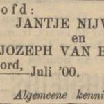 Nijveen en van Buuren, 7-1900, verloofd