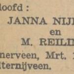 Nijboer en Reiling, 3-1933, verloofd