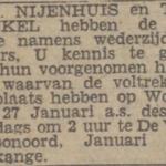 Nijenhuis en Winkel, 1-1943, ondertrouwd