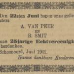 van Peer en Smit, 22-6-1901, 25 jarig huwelijk