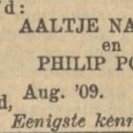 Nathans en Polak, 8-1909, verloofd