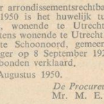 Oldenbeuving en Kuipers, 19-7-1950, echtscheiding