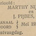 Nijdeken en Pijbes, 5-1927, verloofd
