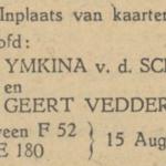 van der Scheer en Vedder, 15-8-1948, verloofd