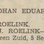 Johan Eduard Roelink, 5-9-1937, geboorteadvertentie