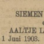 Scheer en Lomulder, 1-6-1903, verloofd