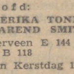 Tonnis en Smit, 25-12-1943, verloofd