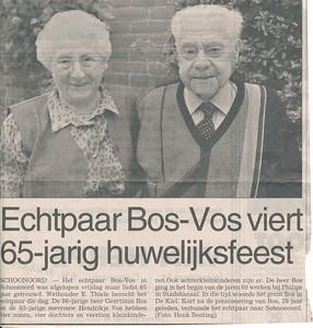 Geertienus Bos en Hendrikje Vos
