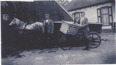 Gerrit Dijkstra (1889-1951)  en zoon Engbert Jans Dijkstra (1915)