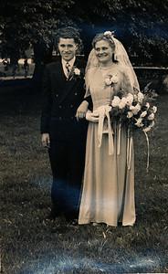 Huwelijk Jan Albert Dam en Sietske Niemeijer, 1952