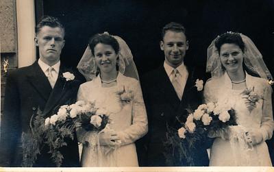Dubbelhuwelijk familie Dam, 1955