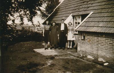 Familie Gebben bij woning Kwekebosweg