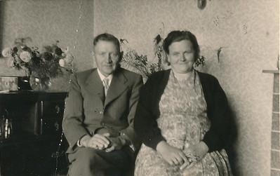 Geert Haak (1903-1983) en Wietske Dam (1905-1985). Foto 1961.