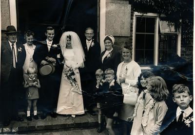 huwelijk Jannes Jagt en Wybigje Dam, 1968