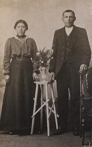 Evert Jagt (1887-1947) en Femmigje Prins (1897-). Foto ca 1918.